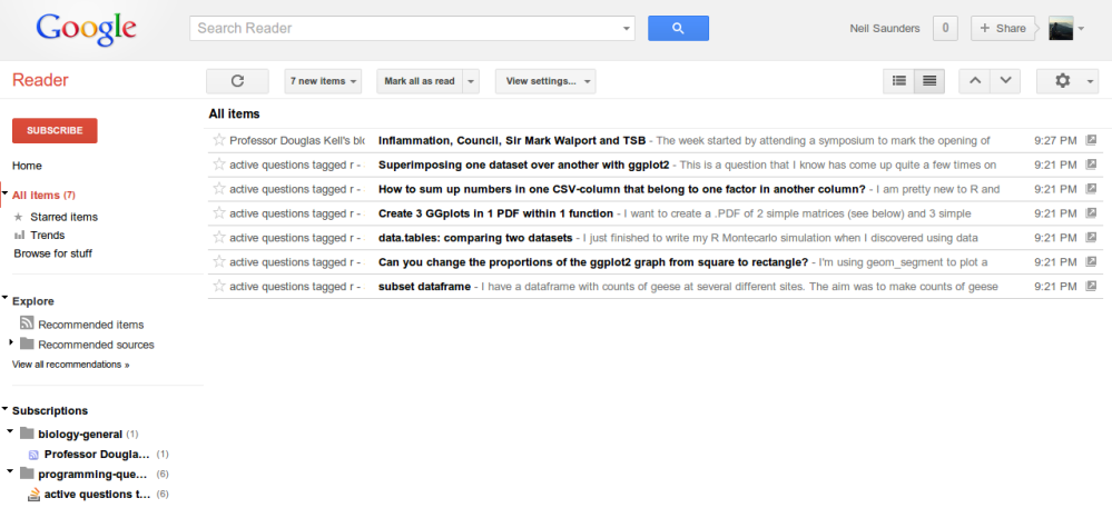 The end of Google Reader: a scientist's perspective