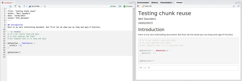 Make prettier documents by reusing chunks in RMarkdown (1/3)